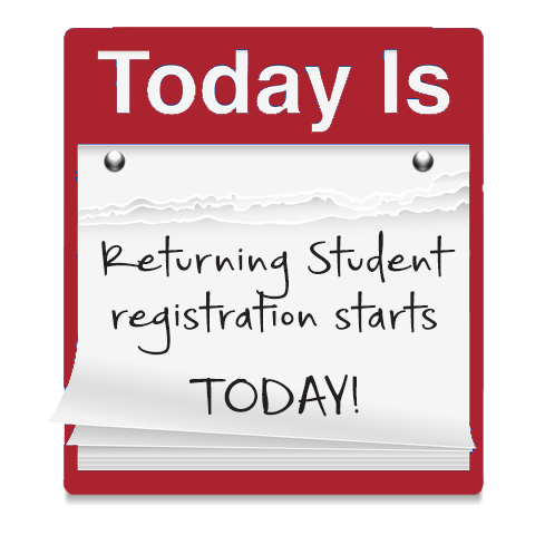 Returning Student registration starts